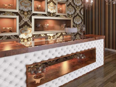 03- Capitonated counter bar